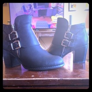 Torrid Black Zipper Booties